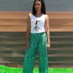 Celana Motif Gajah Hijau - Hijau