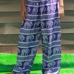 Celana Motif Gajah Ungu