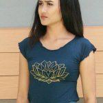 Tshirt Lotus Biru