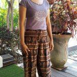 Celana Motif Gajah Coklat
