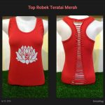 Top Robek Lotus Merah