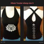 Top Yoga Silang Lotus Hitam