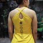 Top Yoga Silang Lotus Kuning