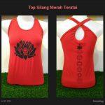 Top Yoga Silang Lotus Merah