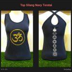 Top Yoga Silang Ohm Biru Navy