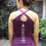 Top Yoga Silang Lotus Ungu