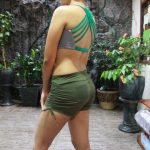 Short Pant Yoga Hijau Army