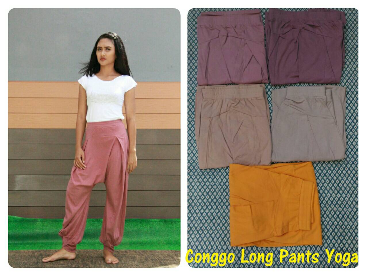 Celana Congo Long Pilihan Warna - Unique Yoga Wear Indonesia